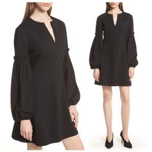 🔥Tibi Bishop-Sleeve V-Neck Dress 6 Boho Nordstrom